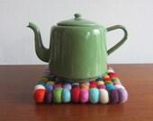 Portuguese Vintage - MINCHIN MR - Enamel Green Teapot kettle - Made in Portugal - 1940s