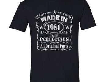 1981 birthday, 1981 shirt, 1981 T-Shirt, 1981