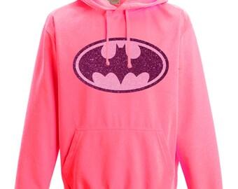 Neon pink hoodie | Etsy