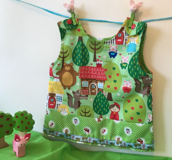 Summer Sale! -20% Red riding hood baby dress, hand made size 56