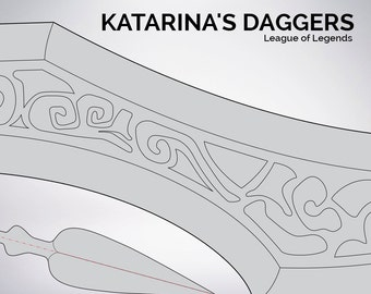 League of Legends Katarina's Daggers blueprint 1:1 scale