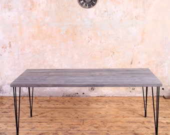 Hairpin Legs Industrial Style Dining Table