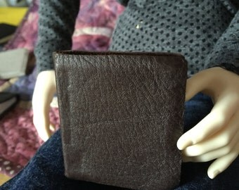 Miniature leather brown journal