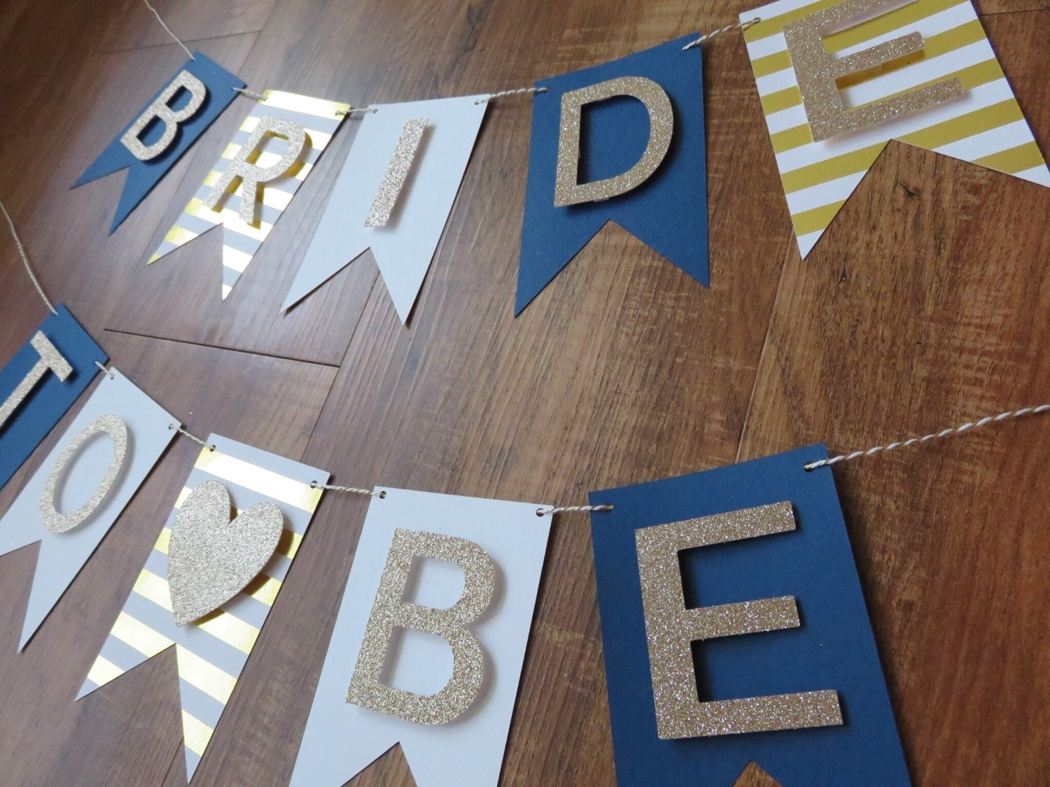 Nautical Bride To Be Banner Navy Gold White Bachelorette