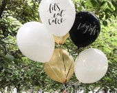 Calligraphy Balloons / Party Supplies / Cake / Congratulations / 12 inch balloon /