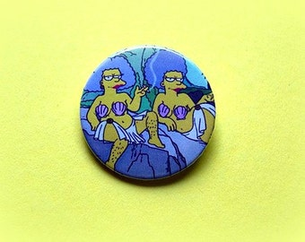 Patty & Selma - pinback button or magnet 1.5 Inch