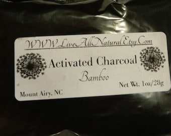 1 oz Activated Charcoal, Bamboo Charcoal Powder, teeth cleaning, acne, detox mask