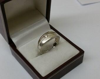 Ring Silver 925 Crystal stones vintage SR265