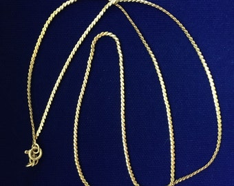Vintage 750 (18K) Yellow Gold Serpentine Chain