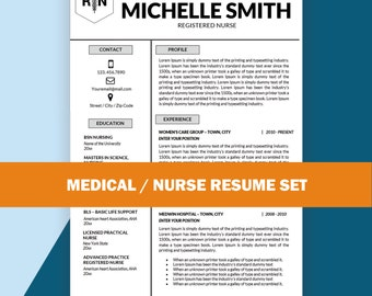 Nursing Resume Template for MS Word Cover Letter Nurse