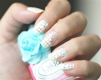 White  Lace Nail Stickers (Part 2)