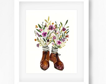 Floral Shoes Print