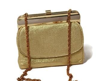 Gold Lame,  Evening Bag, Charisma Handbag, Gold Prom Purse, Retro Handbag,Classic Bag, Purse,New Year's Eve Bag, Purse, Puttin' on the Ritz