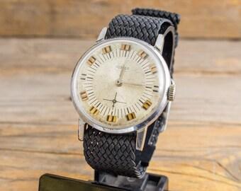 Vintage mens watch, Vintage Pobeda mens watch, mechanical watch, soviet watch, retro watch, russian watch, ussr cccp