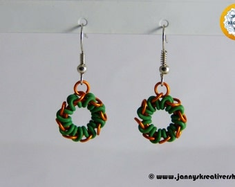 Wreath, Chainmaille earrings