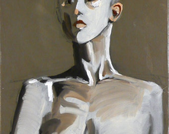"Mannequin Manqué, an oil painting on stretched canvas 12"" x 16"""