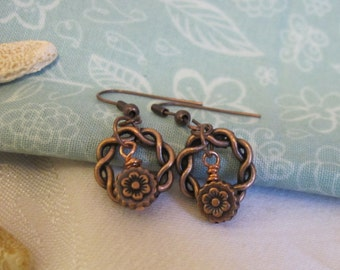 Assorted styles ~ Celtic earrings in copper