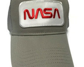 FREE Shipping - NASA Cotton Twill 5 Panel Low Profile Mesh Back Cap