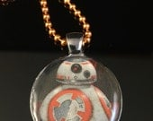BB-8 from Star Wars The Force Awakens - Resin Pendant Necklace