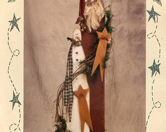 """Country Thoughts Sam and Santa CT06 Wood Pattern 41"""" tall"""