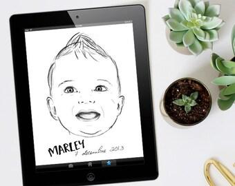 Portrait of custom baby - VERSION digital