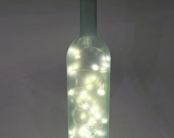 Recycled Wine Bottle Lamp / Wine Bottle Decor /  Gifts for Men / Gift Ideas