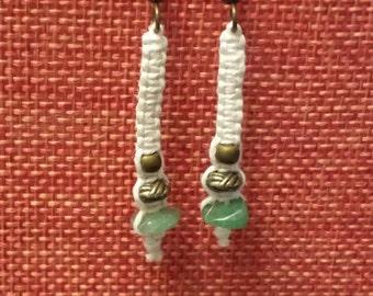 Turquoise hemp earrings