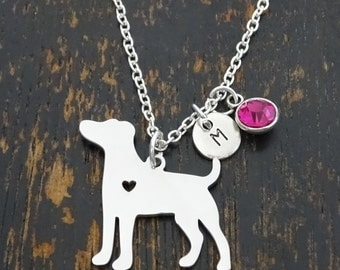 Jack Russel Necklace, Jack Russel Charm, Jack Russel Pendant, Jack Russel Jewelry, Jack Russell Terrier Necklace, Pet Necklace, Dog Jewelry