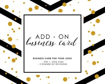 Add-On Business Card DIY Printable Business Card Digital Business Card Layout