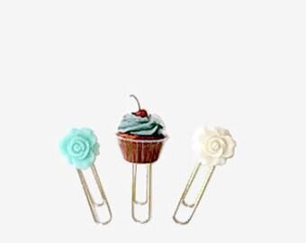 Cupcake Titan Clip Trio, Handmade Line, Clip Trio, Sugar Coated Roses
