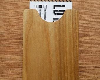 Ash & Maple Wood Business Card Holder