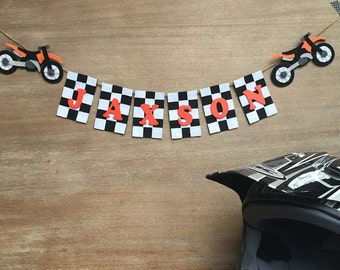 Personalized Motocross Name Banner, Motocross Banner, Motocross Birthday, Dirt Bike Birthday, Motocross Racing, Kawasaki, Yamaha, Honda, KTM
