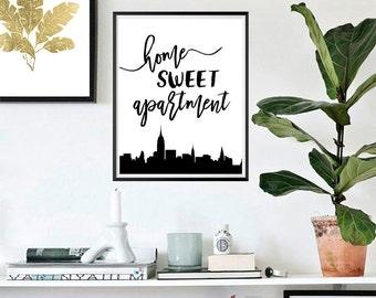 Home Sweet Apartment, Wall Art, Housewarming Gift, Apartment Home Decor #115