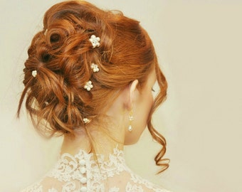 5 Bloemen haarspeldjes