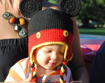 Mickey Mouse Kids hat// Disney Mickey Mouse hat// Baby Mickey Mouse hat