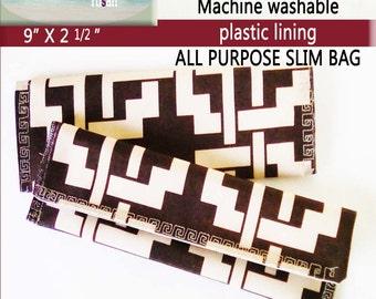 "Slim fabric bag 9 x 2 1/2"""