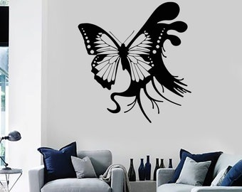 Wall Vinyl Decal Butterfly Fairy Nature Guaranteed Quality Decal 2201di