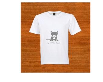 "Child T-shirt. ""My little devil."" Tasmanian Devil. Australia. Tshirt. Birthday gift. Christmas gift. Toddler clothing. Baby shower gift."