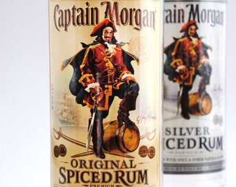 Tall cup - Vase - Cup - Rum - Made from Captain Morgan Liqour Bottles