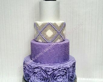 Ruffled rose wedding display cake, Fake cake, Faux cake, Weddings, Sweet sixteen, Photo prop
