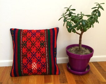Vintage kilim pillow 16x16