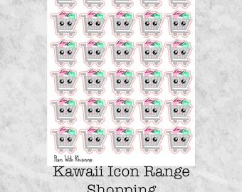 Kawaii Shopping Trolley Planner Stickers