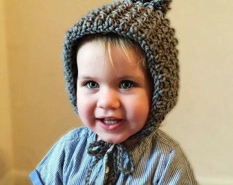 pixi Hat baby hat pom pom hat toddler winter hat pixi Hat