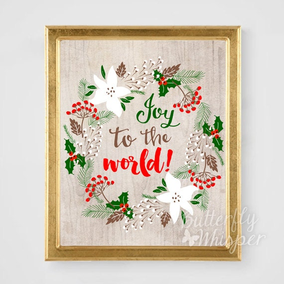 Items Similar To Christmas Decoration Wall Art Printable