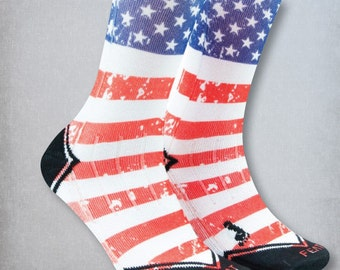 American Flag socks | Gym socks | Printed Gym Socks | Workout socks | Tall Gym socks | Crossfit Socks