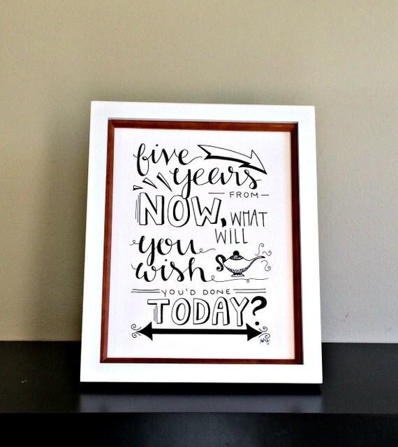 Motivational Quote Print Office Wall Art Motivational