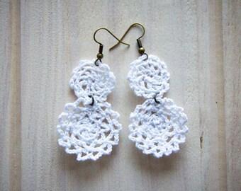 chrocheted earrings