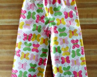 Adorable Butterfly Lounge Pants For Girls, Girls Pants, Lounge Pants, Elastic Waist For Comfort, All Cotton