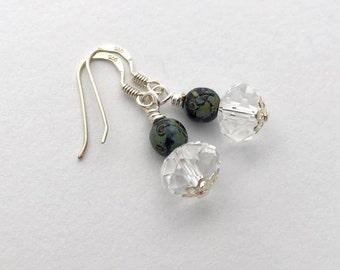 Czech Picasso bead earrings / abstract earrings / everyday earrings / dainty earrings / boho jewellery  / birthday gift for girlfriend