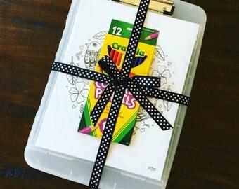 Travel coloring kit | Etsy